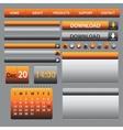 Website web design elements dark vector