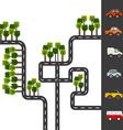 City roads vector