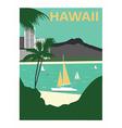 Hawaii usa vector