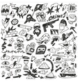 Warcrime - doodles collection vector