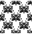Seamless pattern with black flourishes vector