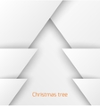 White abstract christmas tree paper applique vector