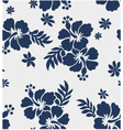 Hibiscus flower seamless pattern vector