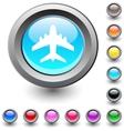 Aircraft round button vector