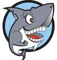 Danger shark logo vector