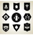 Boxing emblems set black vector