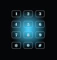 Phone number on black and blue background vector