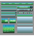 Web elements design blue and green vector