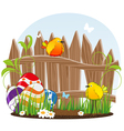 Little birds and easter eggs vector