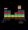 Colorful equalizer - music background vector