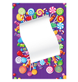 Candy and sweets card vector