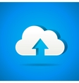 Cloud app icon - upload files vector