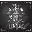 Restaurant chalkboard type vector
