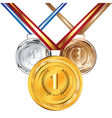 Golden silver and bronze medal2 vector