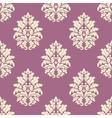 Seamless lush blooming damask flowers pattern vector