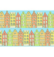 Sketch amsterdam houses in vintage style vector