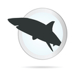 Sign shark in circle vector