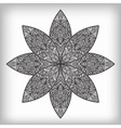 Hand drawn abstract flower vector