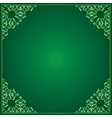 Light and dark green background with ornament vector
