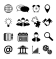 Business icons black vector