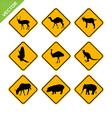 Animal traffic sign vector
