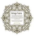 Vintage border frame engraving with retro ornament vector