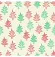 Seamless texture with christmas trees vector