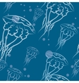 Jellyfishes pattern vector