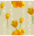 Sunny flowers pattern vector