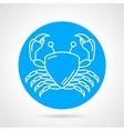 Crab blue round icon vector