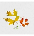Autumn leaf on paper abstract background vector