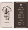 Wine list vector