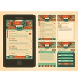 Vintage email interface template vector