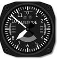 Aviation airplane altimeter vector