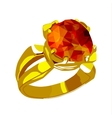 Ring with stone vector