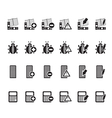 Silhouette 24 business and website icons vector