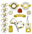 Cotton emblems vector