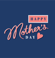 Happy mothers day hand lettering postage stamp vector
