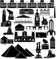 Architecture of the world 3 vector
