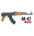 Russian automatic machine rifle ak47 vector