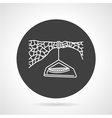 Hanging camp black round icon vector