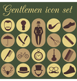 Set of vintage barber hairstyle and gentlemen icon vector