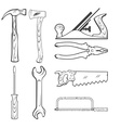 Vintage style hand tools for construction vector