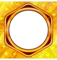 Golden frame on gold background vector