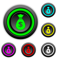 Money buttons set vector