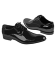 Business shoes for men vector
