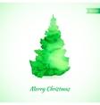 Christmas card with christmas tree vector