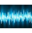 Sound waves oscillating background vector