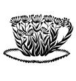 Decorative silhouette teacup vector