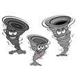 Cartoon tornado and cyclone characters vector
